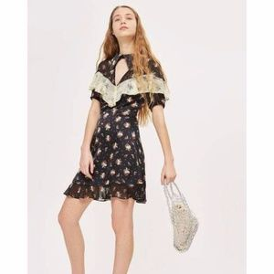 Topshop Rodeo Frill Western Mini Fringe dress NWT